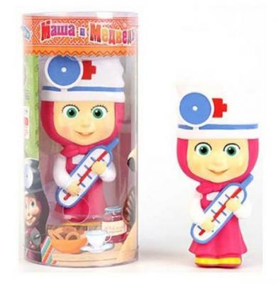 Пластмассовая игрушка Маша и Медведь Маша-доктор 14 см GT 7384