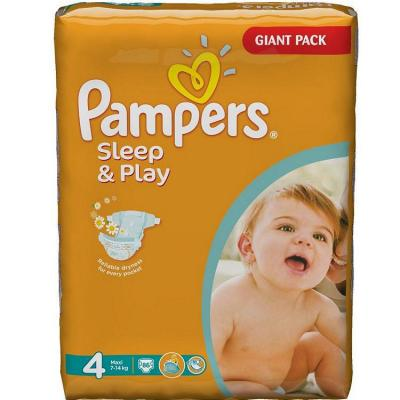 Подгузники Pampers Sleep  Play Maxi (7-14 кг) Стандартная Упаковка 14 шт.