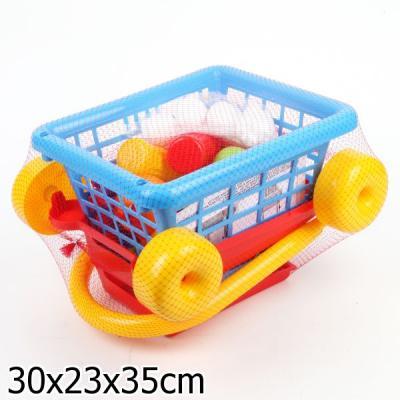 Игровой набор Полесье Тележка Supermarket №1 + набор продуктов 42989 полесье игровой набор гараж 1 премиум с автомобилями