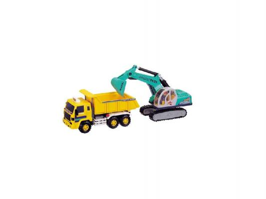 Игровой набор Daesung Toys Самосвал с экскаватором разноцветный 2 шт н/д