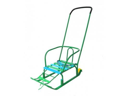 Санки R-Toys Считалочка Девятка с колесиками зеленый сталь T3+