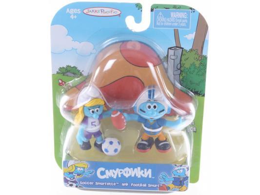 Купить Смурфики. Фигурка Смурфика 5, 7 см (33230) Soccer Smurfette and Football Smurf 4+, JAKKS, Пластик, Для всех