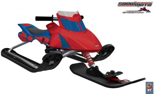 Снегокат Snow Moto Ultimate Spiderman до 80 кг красный синий металл пластик 37015 RT