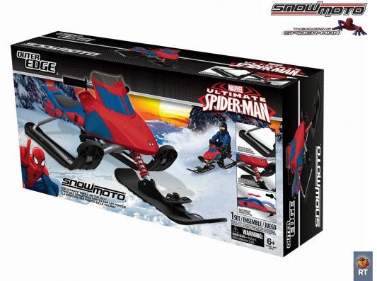 Снегокат Snow Moto Ultimate Spiderman до 80 кг красный синий металл пластик 37015 RT от 123.ru