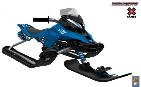 Снегокат Snow Moto X Games MXZ-X Blue до 80 кг синий металл 37012 RT