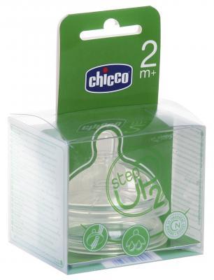 Соска Chicco Step Up регулируемый поток, с 2 мес. (силикон) 2 шт силикон анатомическая от 2 месяцев прозрачный chicco соска силиконовая step up 0 нормальный поток