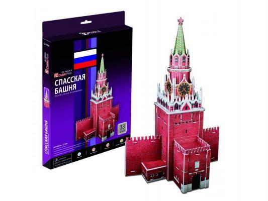 Пазл 3D CubicFun Спасская башня (Россия) 33 элемента C118H cubicfun 3d пазл эйфелева башня 2 франция cubicfun 33 детали