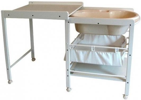 Купить Стол для пеленания с ванночкой Geuther Hanna (натуральный/белый), дерево, Столы для пеленания