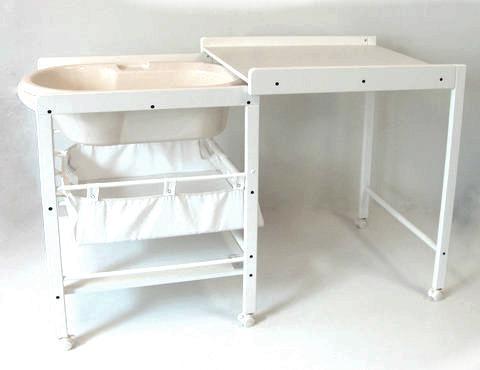 Стол для пеленания с ванночкой Geuther Hanna (белый)