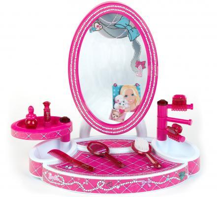 Игровой набор KLEIN Студия красоты настольная с аксессуарами Barbie 8 предметов 5378 набор парикмахера klein barbie с феном 8 предметов 5793
