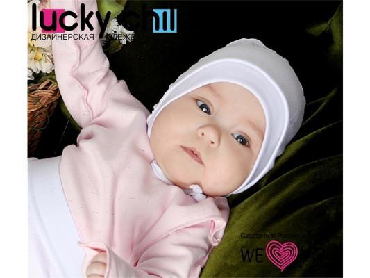 Чепчик детский Lucky Child Ажур, размер 38 Голубой