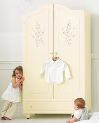 Шкаф двустворчатый Baby Expert Diamante (крем)