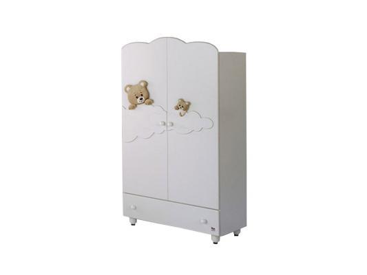 Шкаф двухстворчатый Baby Expert Abbracci-Trudi (белый)