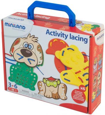 Шнуровка Miniland Животные, в чемодане 95281 3-6 лет