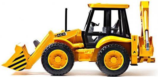 Экскаватор-погрузчик Bruder JCB 4CX колёсный желтый 1 шт 52 см 02-428