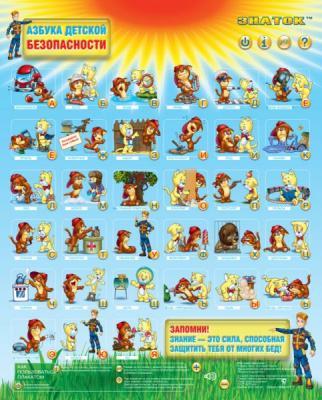 Электронный звуковой плакат Знаток Азбука детской безопасности 00895 PL-11-BZ знаток электронный звуковой плакат говорящая азбука