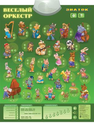 Электронный звуковой плакат Знаток Веселый оркестр PL-04-OR цена и фото