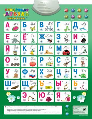 Электронный звуковой плакат Знаток Говорящая азбука 70082 цена и фото