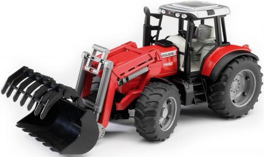Трактор Bruder Massey Ferguson 7480 с погрузчиком красный 46 см 02-042