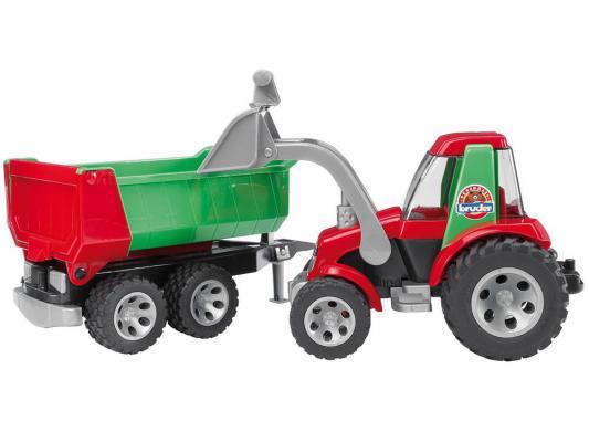 Трактор Bruder с ковшом и прицепом разноцветный 1 шт 67.5 см 20-116