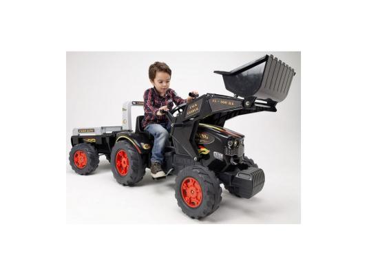 Трактор-экскаватор  педальный с прицепом черный 204 см