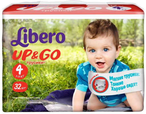 Трусики Libero Up & Go 4 (7-11 кг) 32 шт.