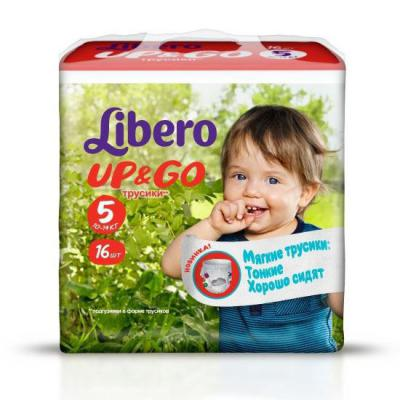 Трусики Libero Up & Go 5 (10-14 кг) 16 шт.