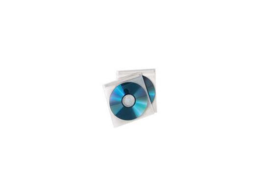 Конверты Hama для 2 CD/DVD полипропилен белый/прозрачный 50шт H-78323