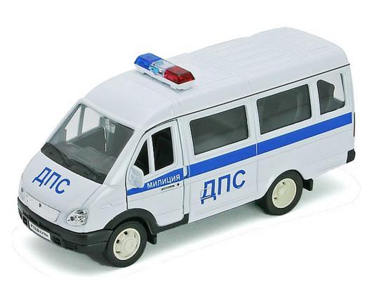 Полицейская машина Welly Газель ДПС белый 1 шт 19 см 42387APB autotime машина газель техпомощь