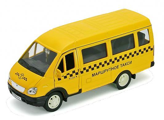 Автомобиль Welly ГАЗель Такси 1:34-39 желтый 42387ATI