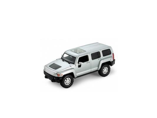 Автомобиль Welly Hummer H3 1:33 серебристый 39887CW welly модель машины 1 32 hummer h3 белый 39887