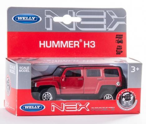 Автомобиль Welly Hummer H3 1:34-39 цвет в ассортименте машина welly hummer h3 43629