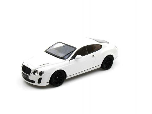 Автомобиль Welly Bentley Continental Supersports 1:18 белый 18038