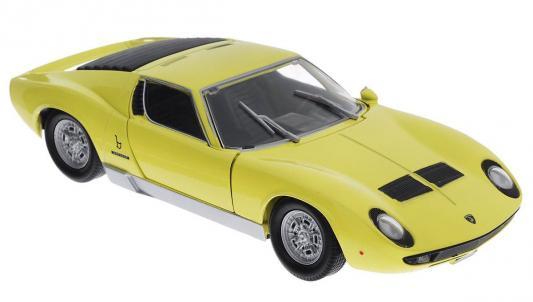 Автомобиль Welly Lamborghini Miura 1:18 желтый 18017