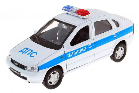 Автомобиль Welly LADA Kalina Милиция ДПС 1:34-39 белый
