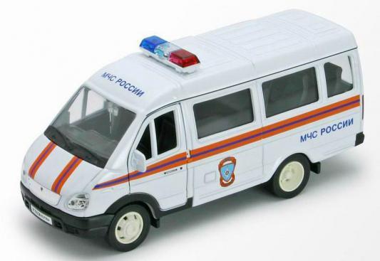 Газель Welly МЧС белый 42387ARE welly welly набор служба спасения пожарная команда 4 штуки
