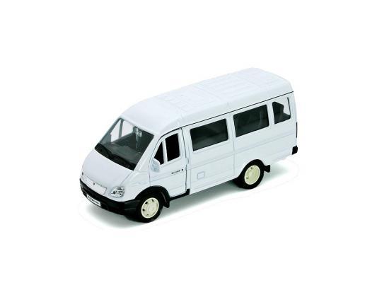 Автомобиль Welly ГАЗель пассажирская 1:34-39 белый 42387A welly 42387a велли модель машины 1 34 39 газель пассажирская
