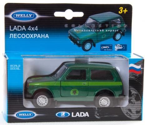 Автомобиль Welly LADA 4x4 Лесоохрана 1:34-39 зеленый