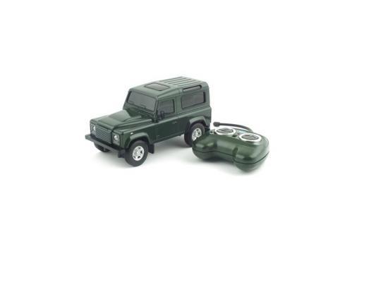 Машинка на радиоуправлении Welly Land Rover Defender пластик от 3 лет зелёный 84005W