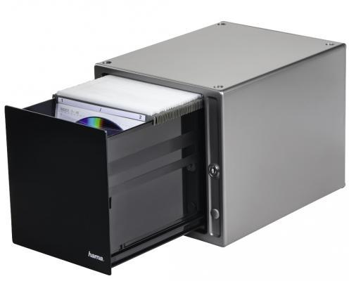 Коробка HAMA Magic Touch для 80 CD серебристый H-48318 конверты hama для cd dvd бумажные с прозрачным окошком белый 25шт h 51060