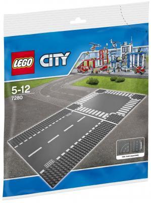 Конструктор Lego Город Т-образная развязка 2 элемента 7281