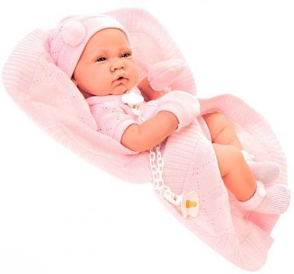 Купить Пупс Munecas Antonio Juan Тони 42 см в розовом 5064P, винил, Куклы Munecas Antonio Juan