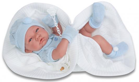 Купить Кукла Munecas Antonio Juan Тони (мальчик) в голубом 42 см мягкая 5063B, винил, Куклы Munecas Antonio Juan