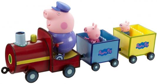 Игровой набор Peppa Pig Паровозик дедушки Пеппы, со звуком 4 предмета 15563 peppa pig транспорт 01565