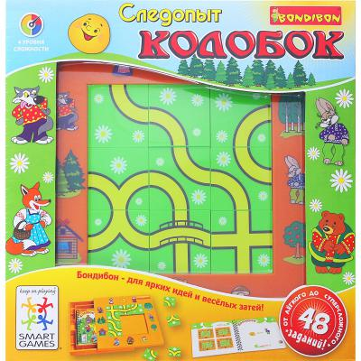 Настольная игра Bondibon логическая Следопыт, Колобок ВВ0518