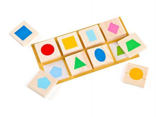 Купить Настольная игра Томик лото Геометрические фигуры, 21 x 17 х 4 см, Лото, домино, шашки и шахматы