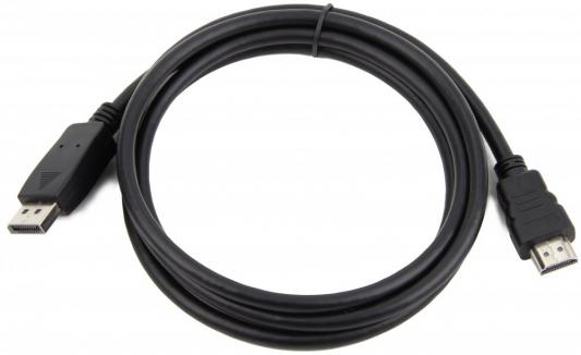 Кабель DisplayPort-HDMI 1м Gembird экранированный черный CC-DP-HDMI-1M цена и фото