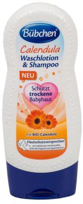Крем-гель Bubchen Календула для мытья волос и тела 230 мл