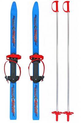 Лыжи детские Пингвин-Вираж-Спорт с палками синий