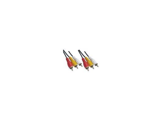 Кабель соединительный 3.0м VCOM Telecom 3xRCA(M)-3xRCA(M) VAV7150-3M